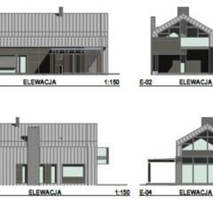 Walls by Budownictwo i Architektura Marcin Sieradzki - BIAMS, Scandinavian Concrete