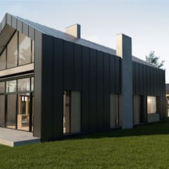 Single family home by Budownictwo i Architektura Marcin Sieradzki - BIAMS, Scandinavian Wood Wood effect