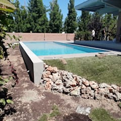 Garden Pool by PISCINE TECNOIMP , Tropical Reinforced concrete