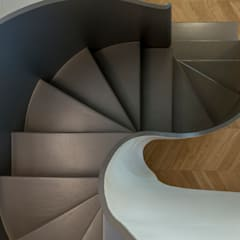 Stairs by Archifacturing, Eclectic Iron/Steel