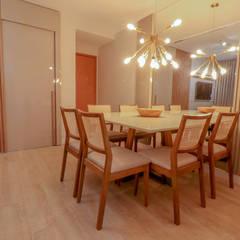 Apartamento veraneio Salas de jantar ecléticas por thais rodrigues Eclético