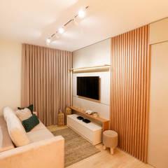 Apartamento veraneio Salas de estar ecléticas por thais rodrigues Eclético