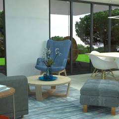 : Salas de estilo  por 2 MINT STUDIO, Mediterráneo