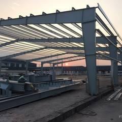 Nhà xưởng công ty Woosung vina bởi Công ty CP Nhà thép Việt Nam Công nghiệp Sắt / thép