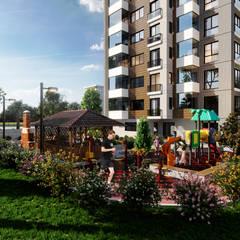 Çalık Konsept Mimarlık – Samatya:  tarz Bahçe, Modern