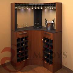 Bodegas de vino de estilo  por MADYS INTERIORES, Clásico
