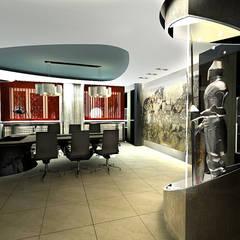 СКВОЗЬ ВРЕМЯ : Рабочие кабинеты в . Автор – STUDIO DESIGN КРАСНЫЙ НОСОРОГ, Лофт