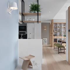 راهرو سبک آسیایی، راهرو و پله ها توسط 禾光室內裝修設計 ─ Her Guang Design آسیایی