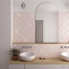 حمام تنفيذ Equipe Ceramicas , بحر أبيض متوسط بلاط