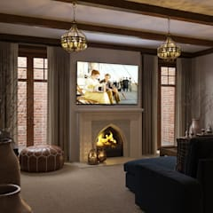 Media room by MARION STUDIO, Classic