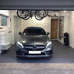 A dream garage in Sevenoaks, Kent by Garageflex Minimalist