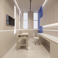 Дизайн салона красоты в современном стиле: Рабочие кабинеты в . Автор – Студия дизайна интерьера Руслана и Марии Грин, Эклектичный