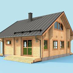 de THULE Blockhaus GmbH - Ihr Fertigbausatz für ein Holzhaus Rústico Madera Acabado en madera