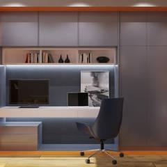 Проект 130 квадратов, Москва: Рабочие кабинеты в . Автор – Interior designers Pavel and Svetlana Alekseeva, Лофт