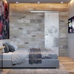ПРОЕКТ ДВУШКА ДЛЯ ДЕВУШКИ, МОСКВА Спальня в стиле лофт от Interior designers Pavel and Svetlana Alekseeva Лофт