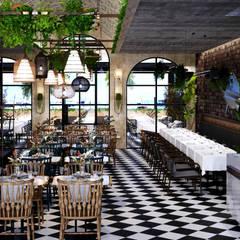 Modern gastronomy by Entrada Mimarlık Modern Wood Wood effect