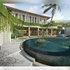 Hoteles de estilo  por Putri Bali Design (PBD) , Tropical Madera Acabado en madera