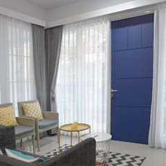 White House With The Blue Door Oleh Putri Bali Design (PBD) Mediteran Kayu Wood effect