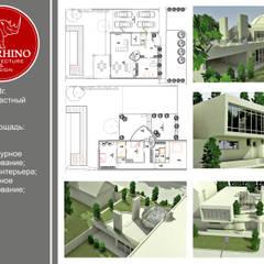 Hiên, sân thượng phong cách công nghiệp bởi STUDIO DESIGN КРАСНЫЙ НОСОРОГ Công nghiệp