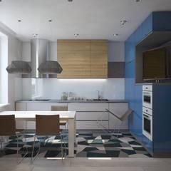ПРОЕКТ ХИМКИ Кухня в стиле лофт от Interior designers Pavel and Svetlana Alekseeva Лофт