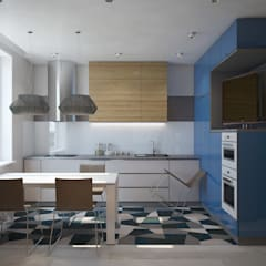 ПРОЕКТ ХИМКИ: Кухни в . Автор – Interior designers Pavel and Svetlana Alekseeva, Лофт