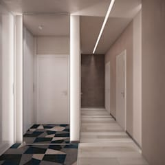 Corridor, hallway by Interior designers Pavel and Svetlana Alekseeva, Industrial