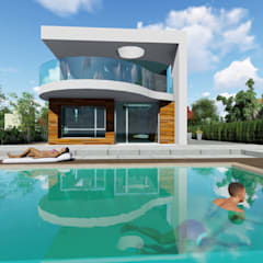 Villas by DYOV STUDIO Arquitectura, Interiorismo  José Sánchez Vélez  653 77 38 06, Minimalist Wood Wood effect