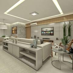 Sala de estar Salas de estar ecléticas por Nicole Sandri Arquitetura Eclético MDF