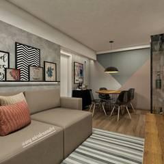 Sala de estar Salas de estar ecléticas por Nicole Sandri Arquitetura Eclético