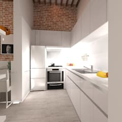 Small kitchens by RÖ | ARQUITECTOS, Minimalist Plywood