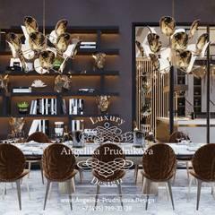 Дизайн-проект интерьера виллы в Куршавеле: Столовые комнаты в . Автор – Дизайн-студия элитных интерьеров Анжелики Прудниковой, Эклектичный