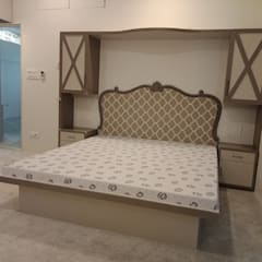 غرفة نوم تنفيذ Olive interiors , إستعماري خشب Wood effect