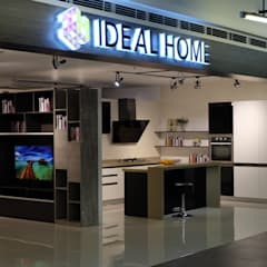SM North Edsa Interior Zone Showroom:  Commercial Spaces by Ideal Home, Modern Wood Wood effect