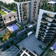 Çalık Konsept Mimarlık – TD Terraces:  tarz Bahçe, Modern