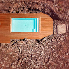 Garden Pool by Serviventura - Constructing Dreams, Mediterranean Concrete