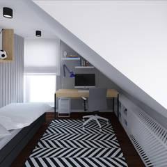 Pokój dla natolatka Minimalistyczny pokój dziecięcy od meinDESIGN Minimalistyczny