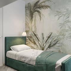 Эргономика и лаконичность: дизайн 3-комнатной квартиры в современном стиле: Спальни в . Автор – Архитектурное бюро «Парижские интерьеры», Эклектичный