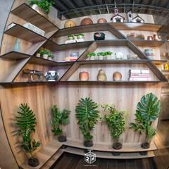 Bares y Clubs de estilo  por Fark Arquitetura e Design, Industrial Tablero DM