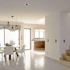 Residencial Amberes sistema instalado en todas las casas del conjunto: Salas de estilo  por Aertenica MX, Mediterráneo