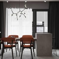Апартаменты в Краснодаре: Столовые комнаты в . Автор – ARTSTUDIO Design & Construction, Эклектичный