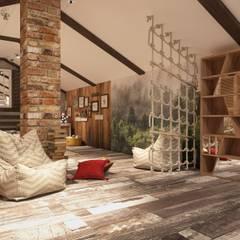 Мансарда: Рабочие кабинеты в . Автор – El'design, Эклектичный