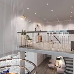 Коттедж : Лестницы в . Автор – El'design, Модерн
