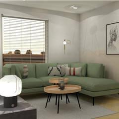Interieurontwerp woonkamer Scandinavische woonkamers van THIES Design Scandinavisch