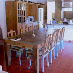 Dining room by Mazorra Studio, Rustic Bricks