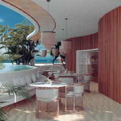 Tropische hotels van BÖHEM STUDIO Tropisch Hout Hout
