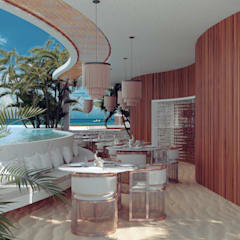 Hotels by BÖHEM STUDIO, Tropical Wood Wood effect