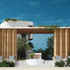 Tropische hotels van BÖHEM STUDIO Tropisch