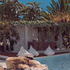 Hoteles de estilo  por BÖHEM STUDIO , Tropical
