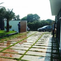 Anexos de estilo clásico de Growscape Landscape Architect Clásico Concreto