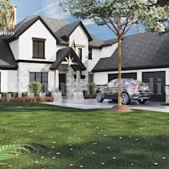 4-bedroom Simple Modern Residential 3D Floor Plan House Design by Architectural Rendering Company, Liverpool :  Villas by Yantram Architectural Design Studio, Modern Wood-Plastic Composite